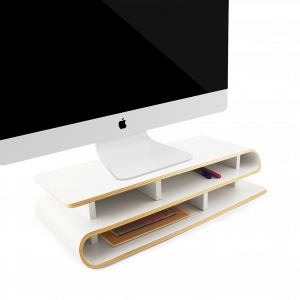 2 IN 1 MONITOR RISER & DESKTOP ORGANIZER