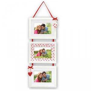 3 houten fotolijsten, aan elkaar