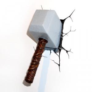 3D-lamp: Thor´s hamer