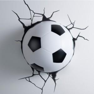 3D-lamp: voetbal