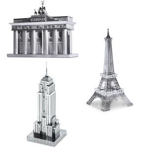 """3D-metaalbouwset """"Beroemde gebouwen"""""""