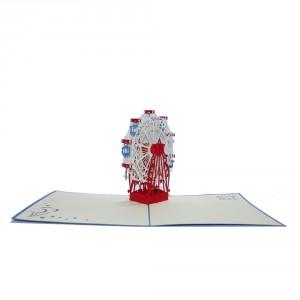 3D-wenskaart met pop-up reuzenrad