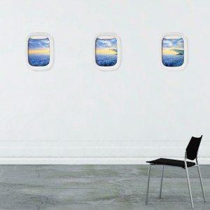 """Air Frame – fotolijsten """"Vliegtuigraam"""" (set van 3)"""