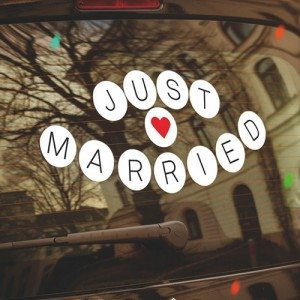 "Autostickers ""Just Married"""