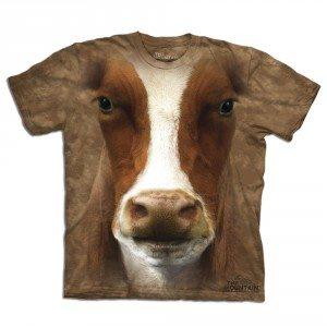 Big Face dieren T-shirts – Koe