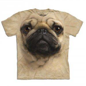Big Face dieren T-shirts – Mopshond