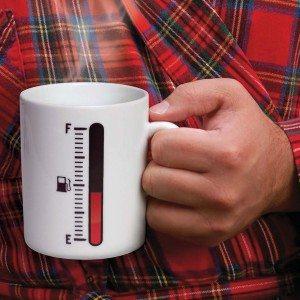 Bijtanken alstublieft – koffiebeker
