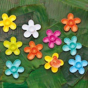 Bloemen eierdopjes, set van 2