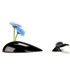 """Bloemenvaas """"Walvis"""" - met bloem"""