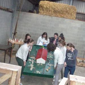 Boerengolf of andere boeren spellen voor 10 personen . Kaulille