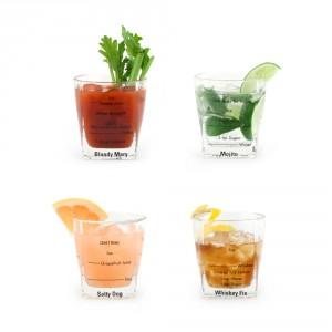 Cocktailglazen met recepten