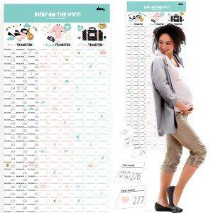 Countdownkalender voor de zwangerschap
