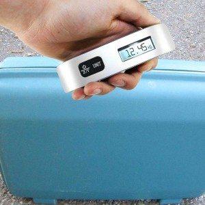 De digitale bagageweegschaal