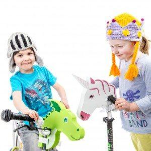 Decoratieve dierenkop voor het fietsstuur
