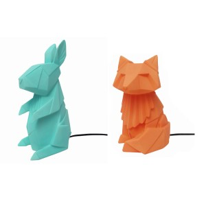 Dierenlamp in origami-look