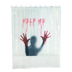 """Douchegordijn """"Help Me"""""""