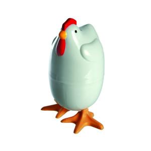 """Eierkoker """"Kip"""" voor in de magnetron"""