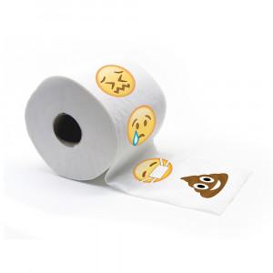 Wc-papier met emoticons