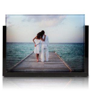 Foto op glas in acryllijst - achterkant