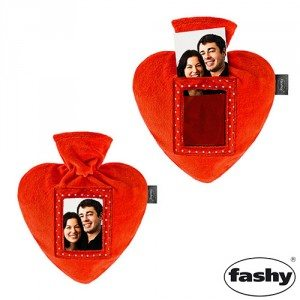Fraaie kruik in hartvorm met foto