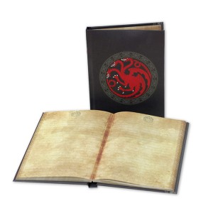 """Game of Thrones"" - Notizbuch mit Leuchtwappen: Haus Targaryen"