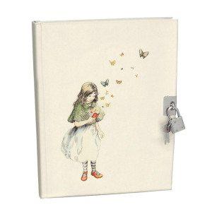Geïllustreerd dagboek met slot