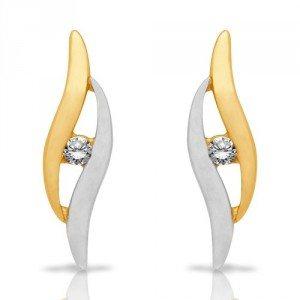 Gouden oorbellen met zirkoniastenen