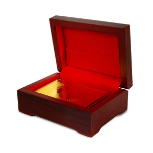 Gouden speelkaarten in luxe doosje