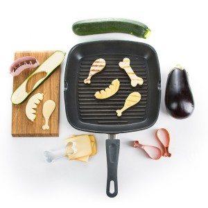 Groente uitsteek vormen - Vegetarisch vlees voor op de BBQ!