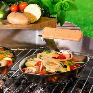 Groentenpan voor de barbecue