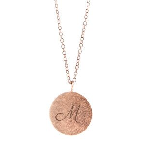 PERNILLE CORYDON: PERSONALIZED ROSEGOLDEN COIN NECKLACE