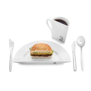 ½ Portion - Das lustige Diät-Geschirr
