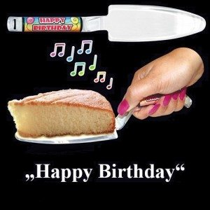 Happy Birthday - muzikale taartschep