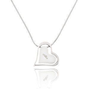 Hearts hanger met gravure en ketting