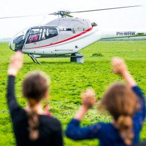 Helikoptervlucht in Heereveen