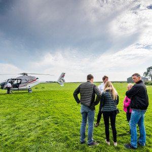 Helikoptervlucht - Huizen