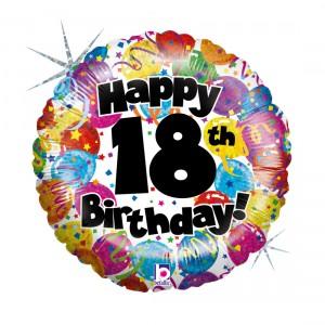 """Heliumballon """"18de verjaardag"""""""