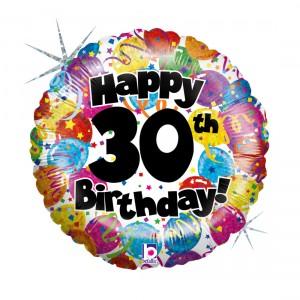 """Heliumballon """"30ste verjaardag"""""""