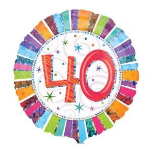 "Heliumballon ""40e verjaardag"""