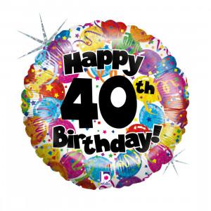 """Heliumballon """"40ste verjaardag"""""""