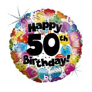 """Heliumballon """"50ste verjaardag"""""""
