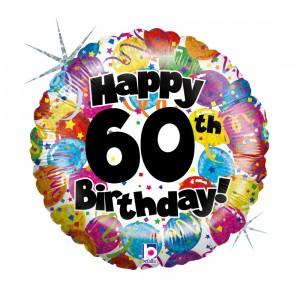"""Heliumballon """"60ste verjaardag"""""""