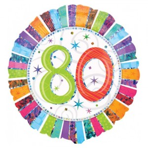 "Heliumballon ""80e verjaardag"""