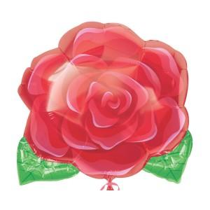 "Heliumballon ""Bloeiende roos"""