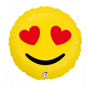 "Heliumballon ""Emoji hartoogjes"""
