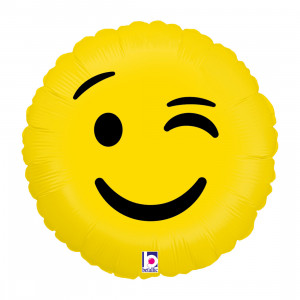 """Heliumballon """"Emoji knipoog"""""""