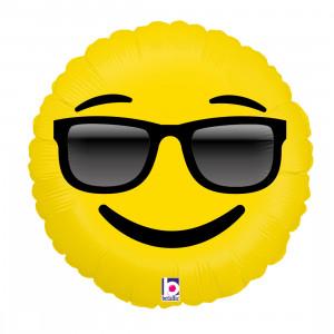 "Heliumballon ""Emoji zonnebril"""