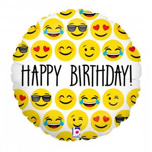 "Heliumballon: Emojis ""Happy Birthday"""