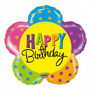 "Heliumballon ""Happy Birthday Bloem"""