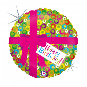 "Heliumballon ""Happy Birthday-cadeautje"""